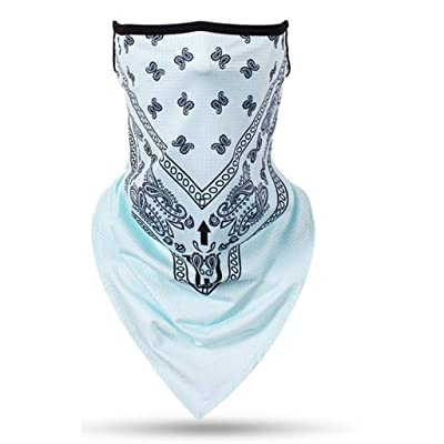 Face Scarf Bandana Ear Loops Face Rave Balaclava Men Women Neck Gaiters for Dust Wind Motorcycle Cover Light Blue at Women's Clothing store