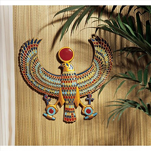 Horus Egyptian Wall Plaque: Set of Two