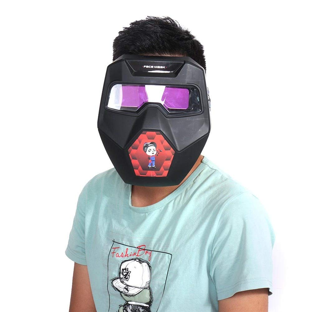 Gkjhkjhty Maschere Casco e Occhiali Auto scurimento Maschera da Saldatore saldatori Casco Arco TIG Mig Occhiali Occhiali Saldatura Protettiva di Sicurezza per Saldatura Taglia : Goggles