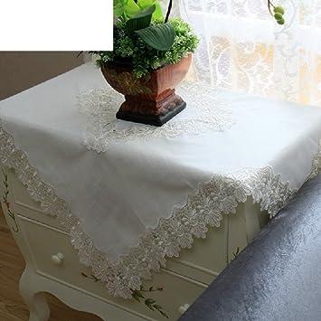 LILILI Toalla de Tela,Table mantel blanco puntilla toalla pasamanos,nevera cubrir una toalla 110x160cm(43x63pulgadas): Amazon.es: Hogar