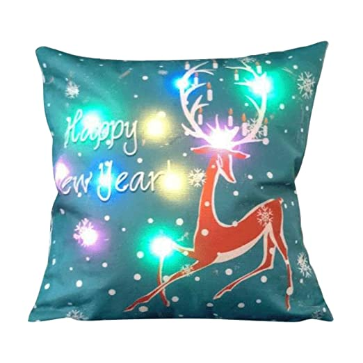 fairlove LED almohada cojín luminoso estilo de Navidad cojín ...