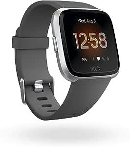 Fitbit Smartwatch Versa Lite, Talla Unica, Charcoal/Silver Aluminum
