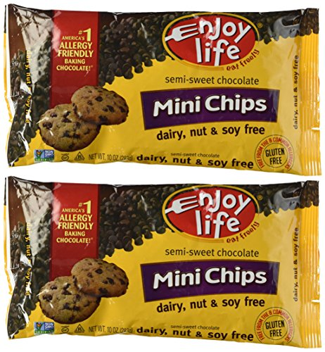 Enjoy Life Semi-sweet Chocolate Mini Chips Pck of 2 (Chocolate Semi Minis Sweet)