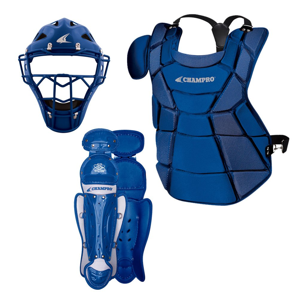 Champro Triple-Play Youth Catcher's Set, Royal, 6 1/2''-7''/13.5'' by CHAMPRO