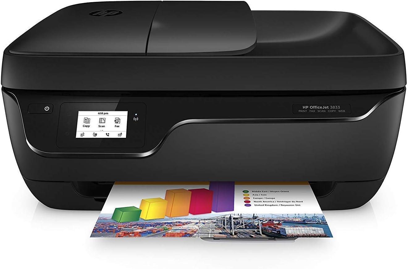 HP OfficeJet 3833 - Impresora Multifunción (imprime, escanea, copia, fax, Wi-Fi, ADF), compatible con el servicio HP Instant Ink: Amazon.es: Informática
