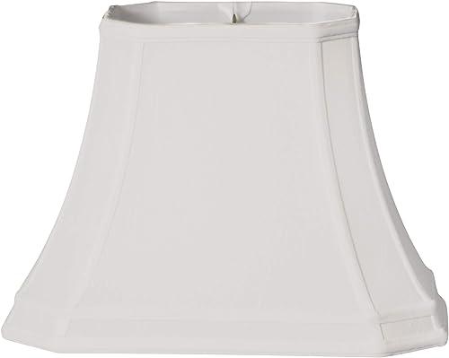 Royal Designs BS-736-18WH Rectangle Cut Corner Gallery Basic Lamp Shade, 7 x 10 x 11.5 x 18 x 13, White