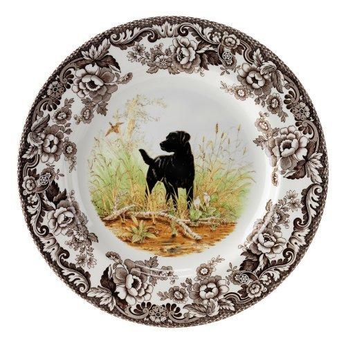 Spode Hunting Dogs - Spode Woodland Hunting Dogs Black Labrador Dinner Plate (Renewed)