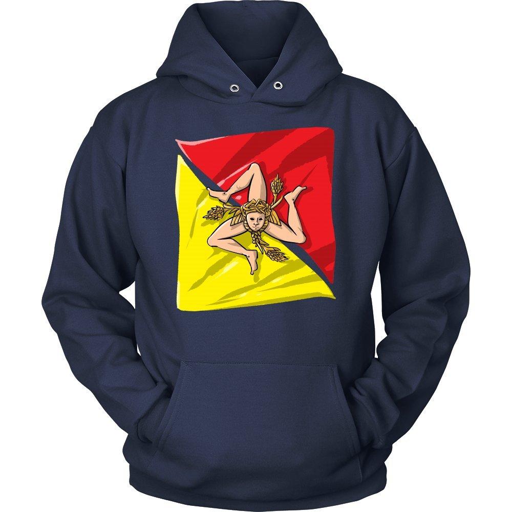 Italy Sicily hoodie Distressed Sicilian Coat of Arms Sicilia Vintage Hoodie Italian