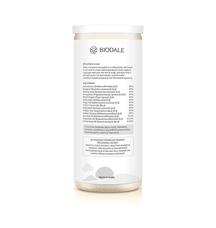 Buy Biodale 100 Natural Hair Wash Powder 125g Online At Low Prices