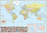 The World's Best World Map - Laminated