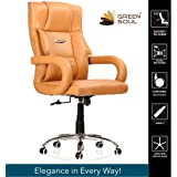 Green Soul Barcelona High-Back Computer Executive Office Chair, Modern And Ergonomic Design, Elegant Handle Design, 360 Degree Swivel (Tan)