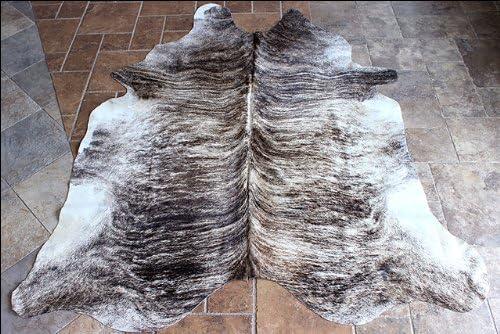 H984 Exotic Light Hilason Hair On Leather Pure Brazilian Cowhide Skin Rug Carpet