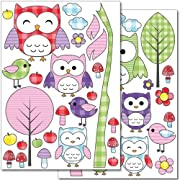 Wandkings wall stickers Owls and Birds Sticker Set – 50 stickers on 2 US letter sheets (each 8.3 x 11.7 inch)