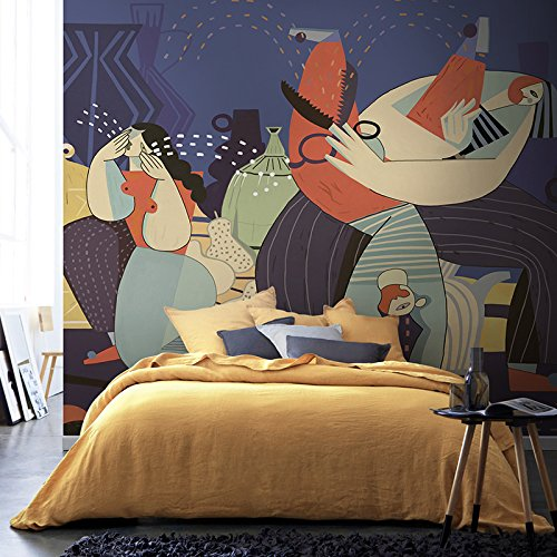 HANHUAN アールデコ様式のフレスコ画の壁紙の壁画防水カスタマイズ可能なサイズのオリエンタルモダンな抽象的なテレビの背景の家の装飾のシームレスな Non-Toxic 環境保護バスルーム/レストラン/バー/ホール/リビングルーム/玄関/キッチン/オフィス/ベッドルーム、 180 x 120 cm B07DKZ1SR7 180x120cm|A