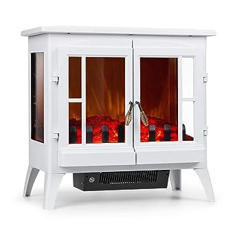Klarstein Innsbruck Chimenea eléctrica Llama simulada • Chimenea electrónica • 1000/2000 W • para 30 m² • Termostato • Función calefactora • Calefacción ...