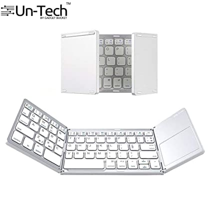 24cf2ba75ce UnTech Portable Foldable Wireless Bluetooth Keyboard with Touchpad for All  Devices Windows PC iOS Android Tablet
