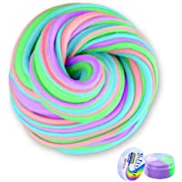 Meland Fluffy Slime, 7 OZ Non-Sticky & Non-Toxic Fluffy Floam Slime Stress Relief DIY Toys Scented Sludge Toy for Kids Adults, 4 Colors, ASTM Certified