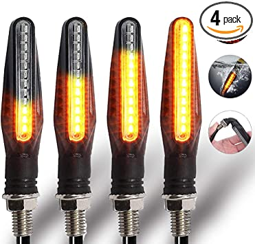 2x Universal LED SMD Motorcycle Turn Signal Indicator Light Blinker Lamp Amber