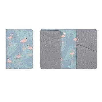 kxtffeect 1Pce piel sintética para pasaporte cartera de viaje carpeta para soporte de pantalla Funda de piel sintética, multifuncional tarjetas de crédito y ...