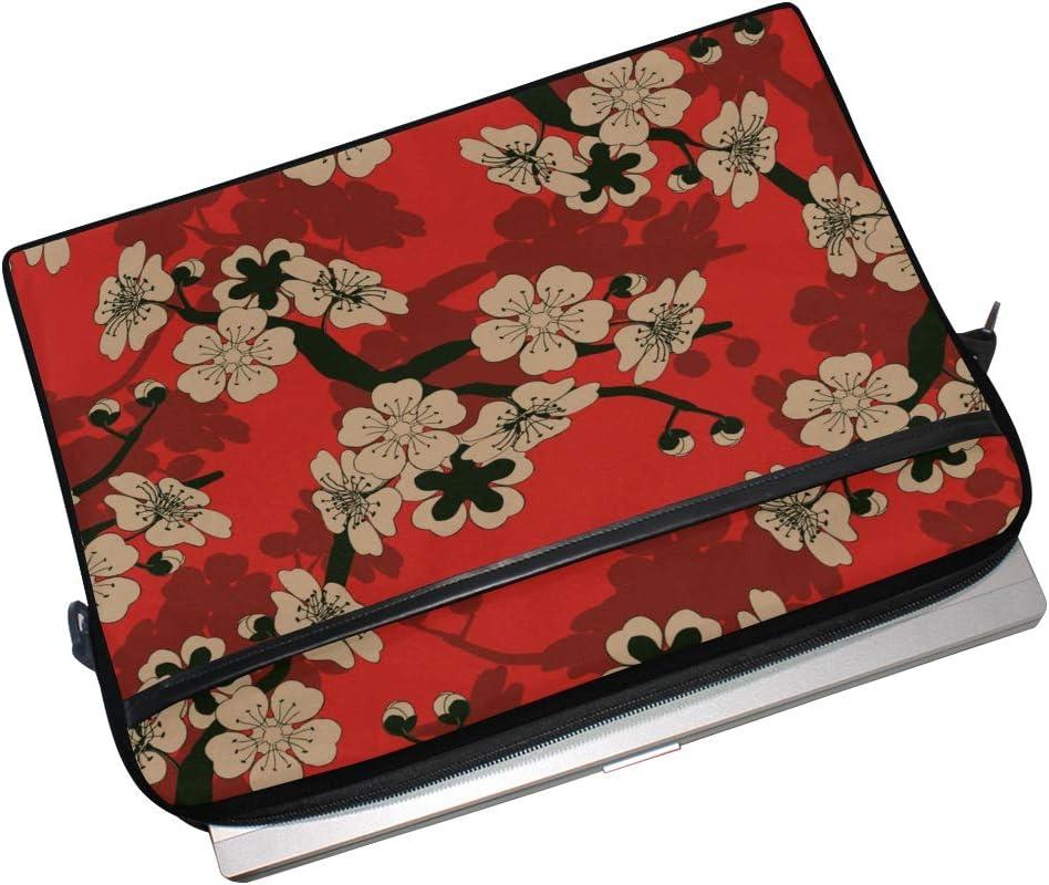 College Students Business People Laptop Bag Japanese Style Tile Cherry Tree 15-15.4 Inch Laptop Case Briefcase Messenger Shoulder Bag for Men Women