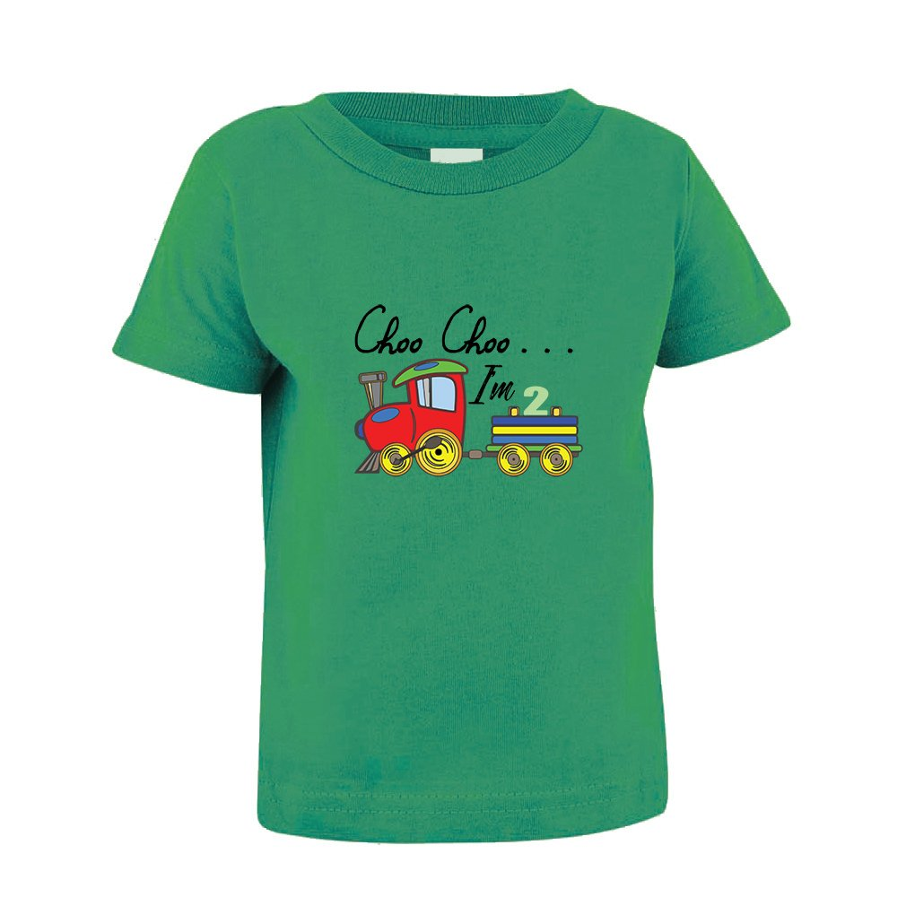 Cute Rascals Choo Choo I'm 2 Train Toddler Baby Kid T-Shirt Tee TTMISX1388