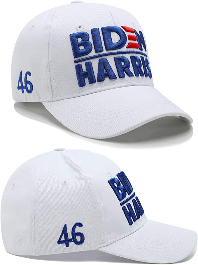 Joe Biden Harris 2020 Hat for 46th President Election Dimensional Embroidery Cotton Baseball Cap with American Flag