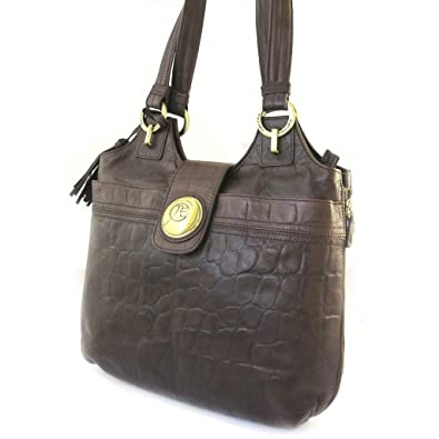 Jacques ESTEREL F3283 - Sac Cuir Croco Marron