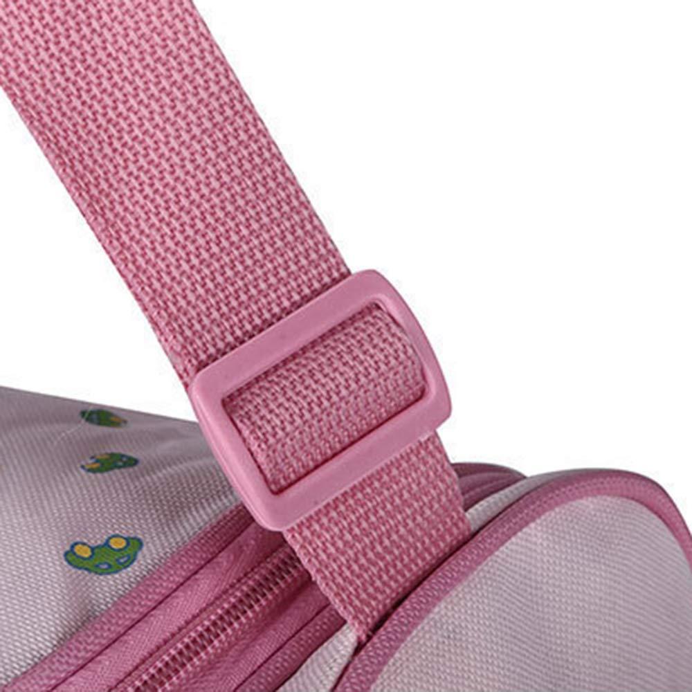 multifuncional Bolso cambiador de pa/ñales para beb/é correa ajustable para el hombro rosa rosa Talla:38 * 17 * 30CM bolso de mano multifunci/ón gran capacidad