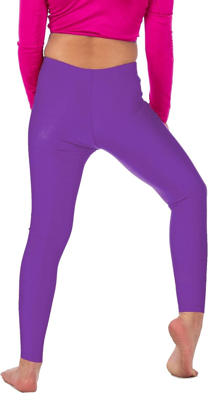 colorazioni fluo ragazza//bambina Re Tech UK Leggings fino alla caviglila elasticizzati