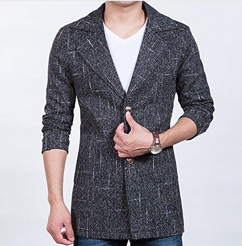 Fvbuhhi Manteau, Veste imperméable, Manteaux pour Hommes, Manteaux pour Hommes, des Loisirs pour Les Hommes, Manteau de Fourrure pour Les Hommes,noir,m
