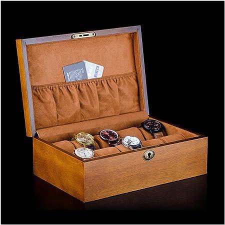 DGYAXIN Estuche para Relojes Hecho a Mano, 7 Compartimentos,Brown: Amazon.es: Hogar