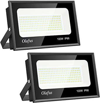 Olafus 2 Packs 100W Focos LED Exterior, IP66 Impermeable 11000LM ...