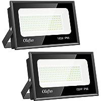Olafus 2 Pack 100W Focos LED Exterior, IP66 Impermeable 11000LM 5000K Blanco Frío Floodlight LED, Equivalente a 550W Halógeno, Foco para Iluminación de Seguridad, Almacén, Garaje, Patio, Fábrica
