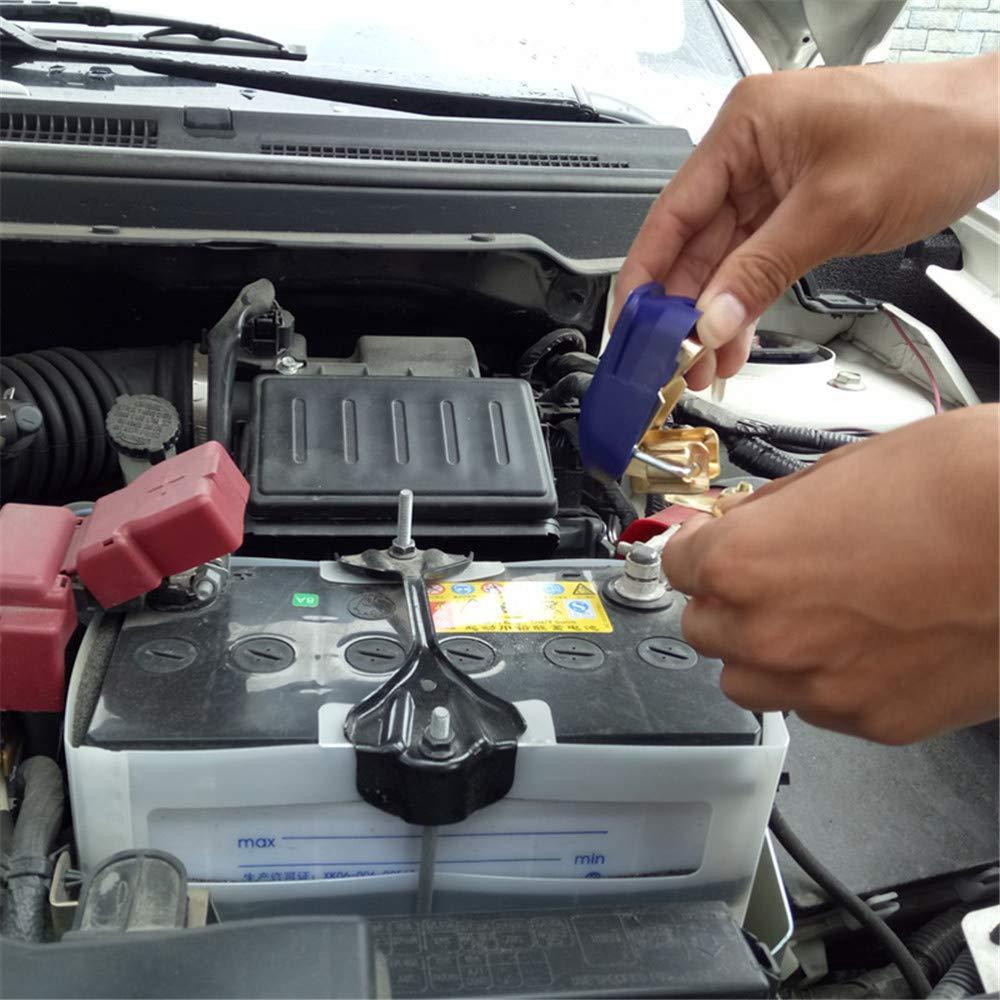 2 St/ücke Auto Universal Abnehmbare Schnellverschluss Batterieklemme Clip Stecker 12 V