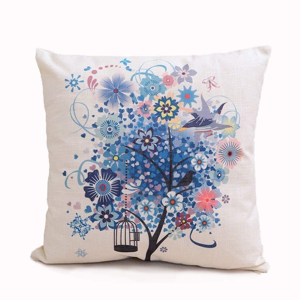 Soft Pillow Simple Fancy Linen Waist Pillow Pillow Bedroom Pillow 4545cm Pillow Plain Car Cushion Backrest Sofa Bedside Back Pad Lumbar Back Pad Soft and Comfortable (Color : #2)