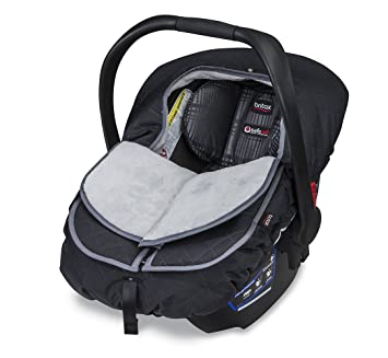 Britax B Warm Insulated Infant Car Seat Cover Polar Mist