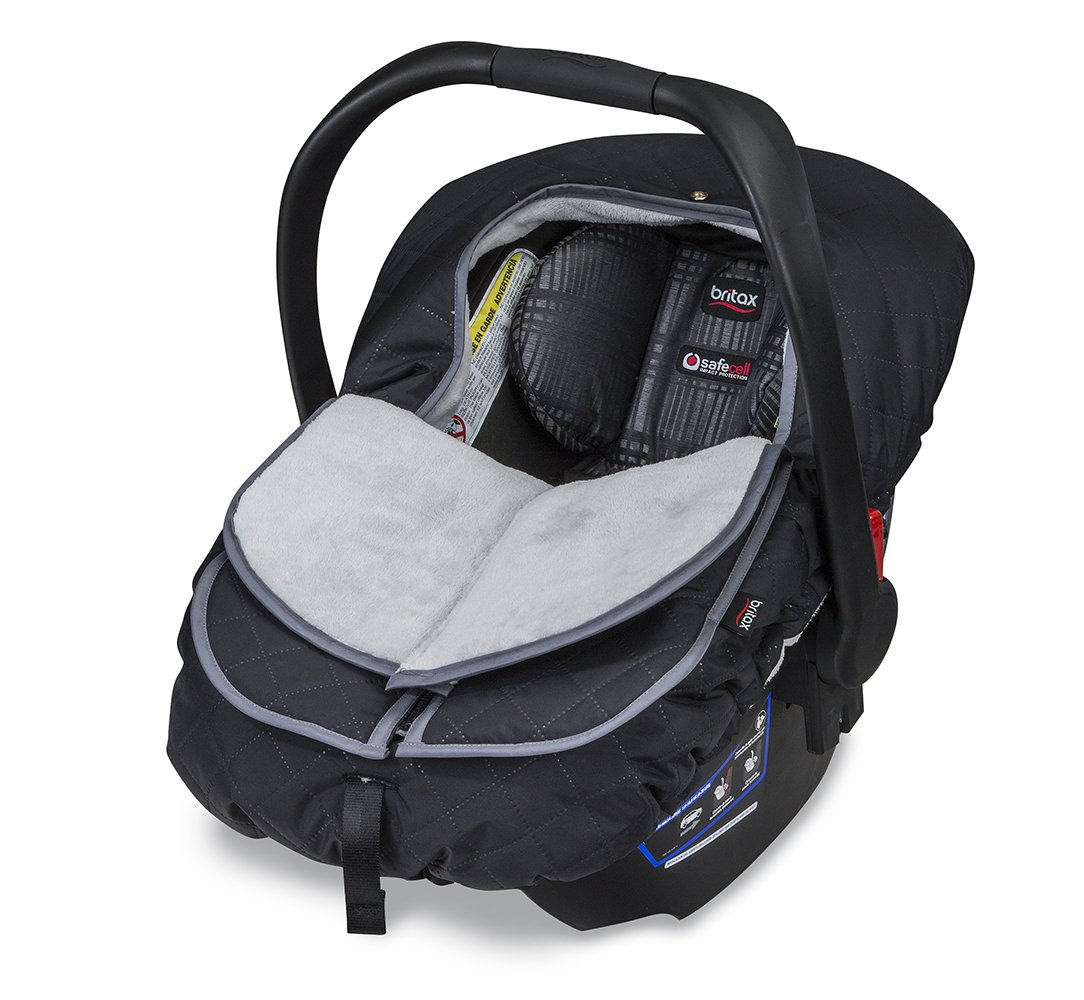 Britax B Warm Insulated Infant Car Seat Cover Polar Mist