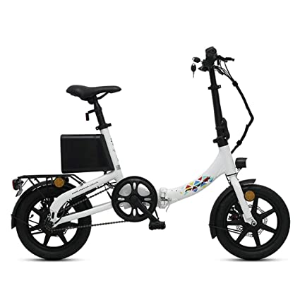 70d74cc25a7 Electric Bicycles Folding 14 Inch Smart Aluminum Alloy Battery Car Small  Lithium Battery Bicycle, Pure