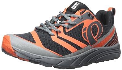 Pearl Izumi Men's EM Trail N 2 Trail Running Shoe, Shadow Grey/Spicy Orange