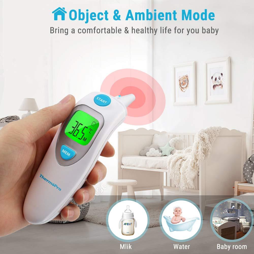 ThermoPro TP121 Termómetro Digital para Frente y Oído para ...