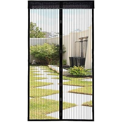 Extsud Mosquitera Magnética para Puertas 80 x 200 cm Cortina Protección contra Insectos para Puerta de Balcón Sala de Estar Puerta de Patio Pegado sin Taladrar, Negro