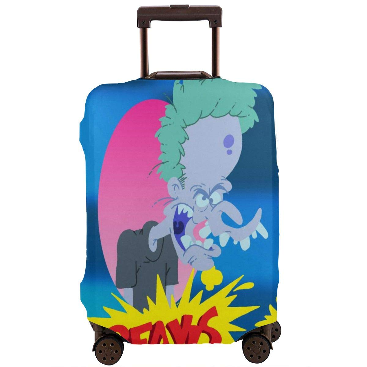 Travel Luggage Cover Cartoon Beavis Butthead Travel Luggage Cover Suitcase Protector Fits 26-28 Inch Washable Baggage Covers