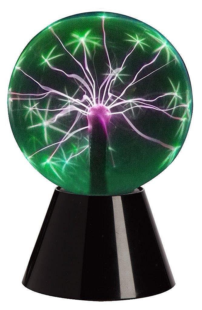 Lightahead 6'' Plasma Ball Lamp Crystal Green Color Globe Design Touch Sound Sensitive