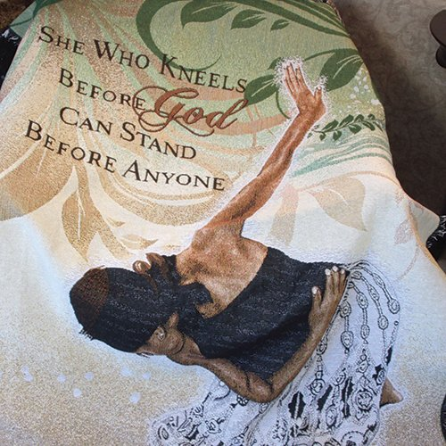 African American Expressions - She Who Kneels Cotton Tapestry Throw ( 4' x 5') TH-22 ()