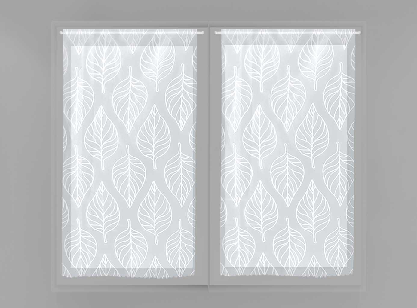 Soleil d'Ocre Paire de Brise bise 45x90 Maud Blanc, Polyester, 45x90 cm Selartex 042029