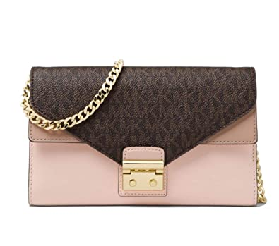 ec876e70cda Image Unavailable. Image not available for. Color  Michael Kors Sloan Logo  and Leather Chain Wallet ...