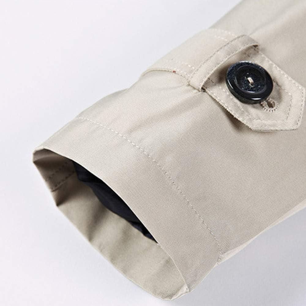 Mens Motorcycle Jacket Slim.Men Winter Warm Jacket Overcoat Outwear Slim Long Trench Buttons Zipper Coat