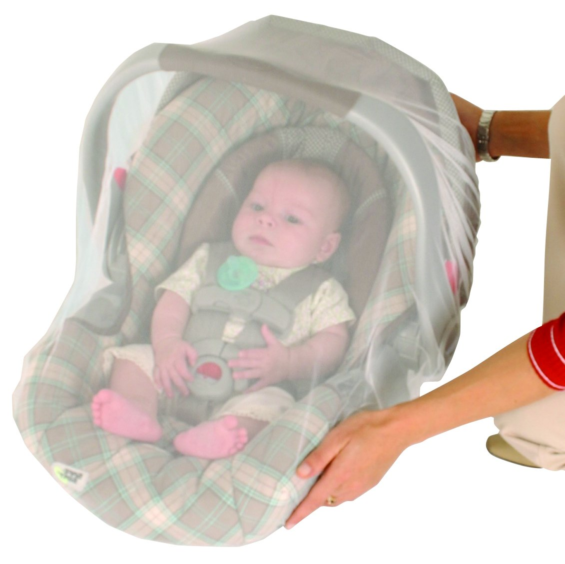 Nuby Baby Strollers Universal Size Mosquito Net, White