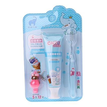 guoyy 1set Niños Frutas Salud Cepillo de dientes Pasta de dientes blanqueamiento con niño Regalos Cuidado