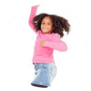 alfombrilla de ratón Adorable niña saltando africano: Amazon.es ...